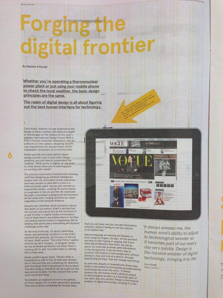 chris khalil interview the age newspaper melbourne agideas 2013